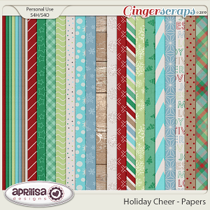 Holiday Cheer - Papers by Aprilisa Designs