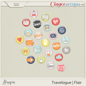 Travelogue Flairs by Dunia Designs