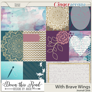 With Brave Wings Journal Cards
