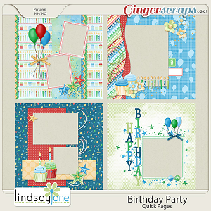 Birthday Party Quick Pages by Lindsay Jane