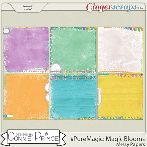 PureMagic: Magic Blooms - Messy Papers by Connie Prince