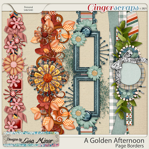 A Golden Afternoon Page Borders from Designs by Lisa Minor