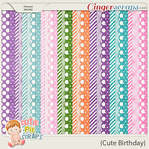 Cute Birthday Pattern Papers
