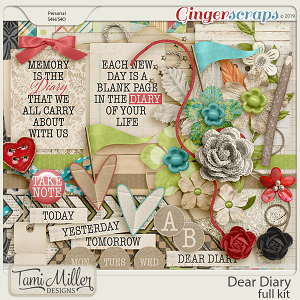 Dear Diary Full Kit by Tami Miller Designs