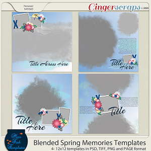 Blended Spring Memories Templates by Miss Fish