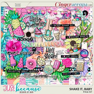 Shake It Baby Page Kit by JB Studio
