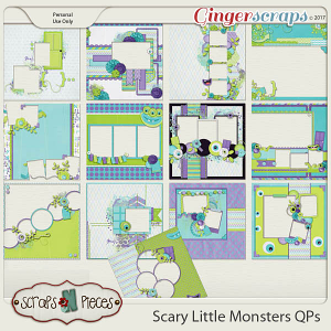 Scary Little Monsters Quick Pages