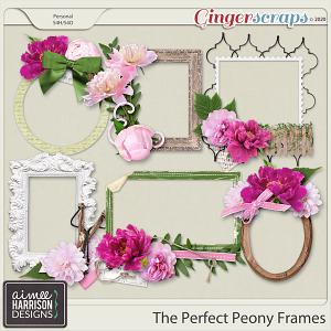 The Perfect Peony Frame Clusters by Aimee Harrison