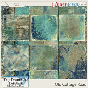 Old Cottage Road {Artsy Papers} by Day Dreams 'n Designs
