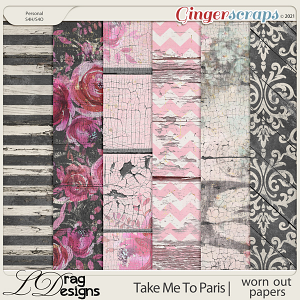 Take Me To Paris: Worn Out Papers by LDragDesigns
