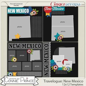Travelogue New Mexico - 12x12 Temps (CU Ok) by Connie Prince