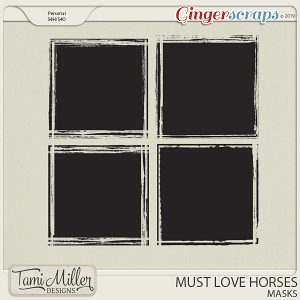 Must Love Horses Masks by Tami Miller Designs