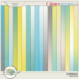 Lemonade - Ombre Papers - by Neia Scraps