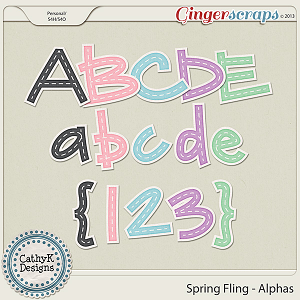 Spring Fling Alphas: by CathyK Designs