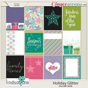 Holiday Glitter Journal Cards by Lindsay Jane