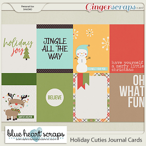 Holiday Cuties Journal Cards