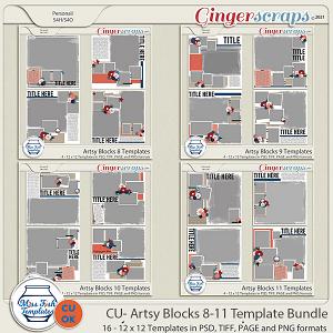 CU - Artsy Blocks 8-11 Template Bundle by Miss Fish