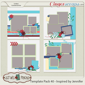 Template Pack 40 - Inspired by Jennifer by Scraps N Pieces