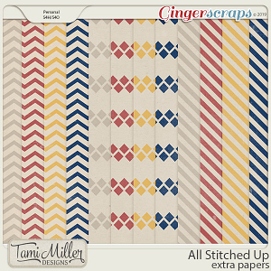 All Stitched Up Extra Papers by Tami Miller Designs