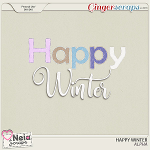 Happy Winter - Alpha - by Neia Scraps