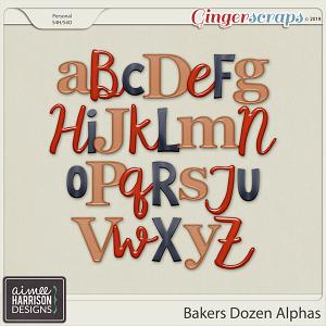 Bakers Dozen Alpha Sets by Aimee Harrison