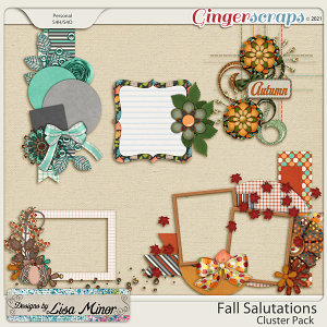 Fall Salutations Cluster Pack from Designs by Lisa Minor