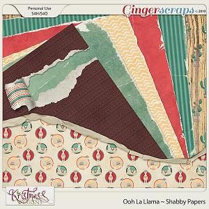 Ooh La Llama Shabby Papers