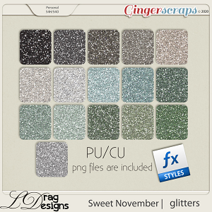 Sweet November: Glitterstyles by LDragDesigns