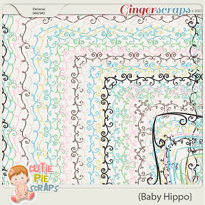 Baby Hippo Page Borders