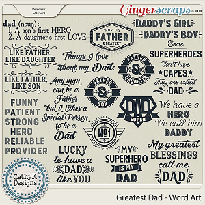 Greatest Dad - Word Art by CathyK Designs