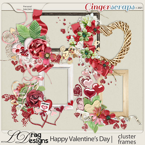 Valentine's Day: Cluster Frames by LDragDesigns