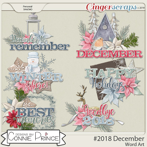 #2018 December - Word Art Pack by Connie Prince