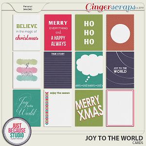 Joy To The World Cards by JB Studio