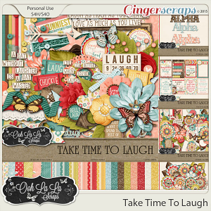 Take Time To Laugh Digital Scrapbooking Bundle
