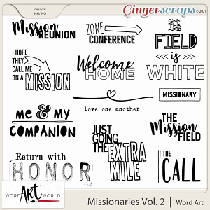 Missionary Work Vol. 2 Word Art