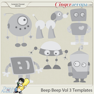 Doodles By Americo: Beep Beep Vol 3 Templates