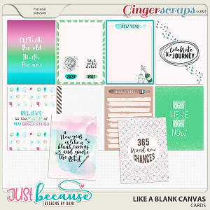 Like A Blank Canvas Cards by JB Studio