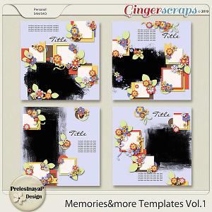 Memories&more Templates Vol.1