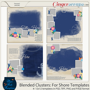 Blended Clusters: For Shore Templates by Miss Fish