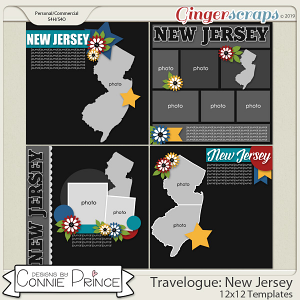 Travelogue New Jersey - 12x12 Temps (CU Ok) by Connie Prince