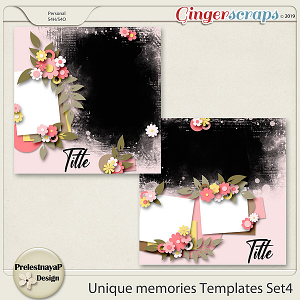 Unique memories Templates Set4