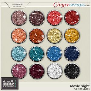 Movie Night Glitters by Aimee Harrison