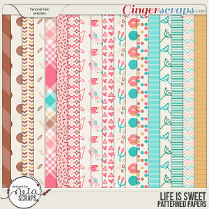 Life is Sweet - Patterned Papers - by Neia Scraps