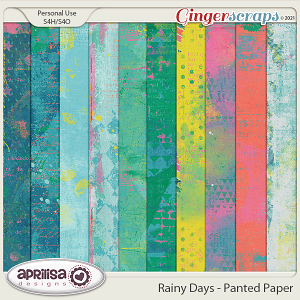 Rainy Days - Painted Papers