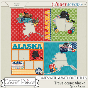Travelogue Alaska - Quick Pages by Connie Prince