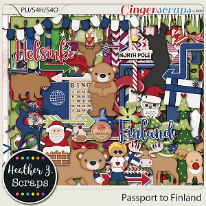 Passport to Finland KIT by Heather Z Scraps