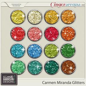 Carmen Miranda Glitters by Aimee Harrison