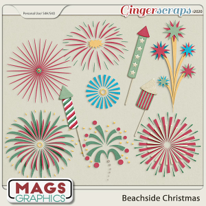 Beachside Christmas FIREWORKS by MagsGraphics