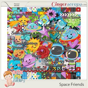 Space Friends Page Kit By Cutie Pie Scraps
