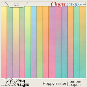 Hoppy Easter: Ombre Papers by LDragDesigns